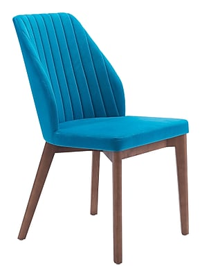Zuo Modern Vaz Dining Chair Blue Velvet (Set of 2) (WC100270)