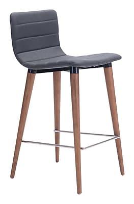 Zuo Modern Jericho Counter Chair Gray (Set of 2) (WC100272)