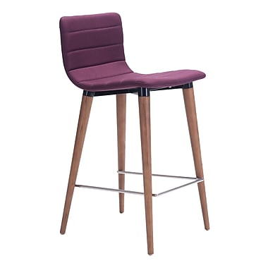 Zuo Modern Jericho Counter Chair Purple, 2/Pack (WC100273)