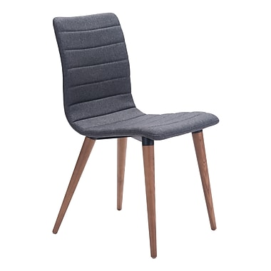 Zuo Modern Jericho Dining Chair Gray, 2/Pack (WC100274)