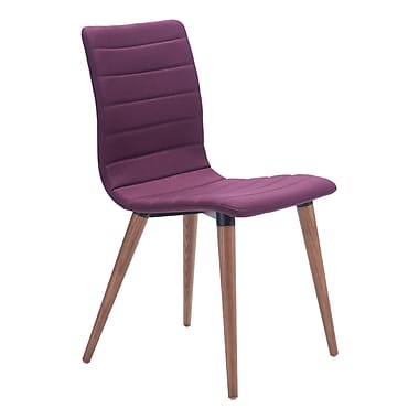 Zuo Modern Jericho Dining Chair Purple, 2/Pack (WC100275)