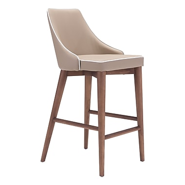 Zuo Modern Moor Counter Chair Beige (WC100279)