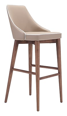 Zuo Modern Moor Bar Chair Beige (WC100281)