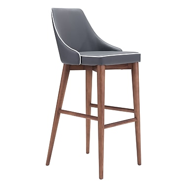Zuo Modern Moor Bar Chair Dark Gray (WC100282)