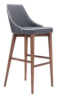 Zuo Modern Moor Bar Chair Dark Gray (WC100282)