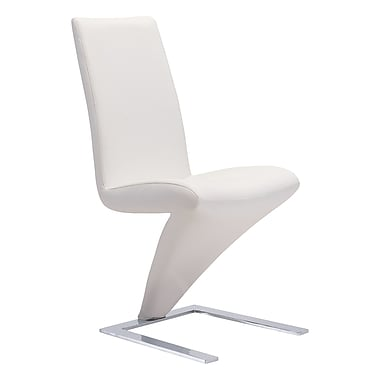 Zuo Modern Herron Dining Chair White, 2/Pack (WC100284)