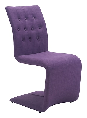 Zuo Modern Hyper Dining Chair Purple (Set of 2) (WC100287)