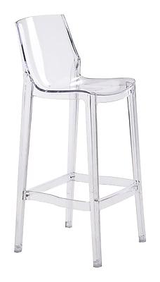 Zuo Modern Phantom Bar Chair Clear (Set of 2) (WC100289)