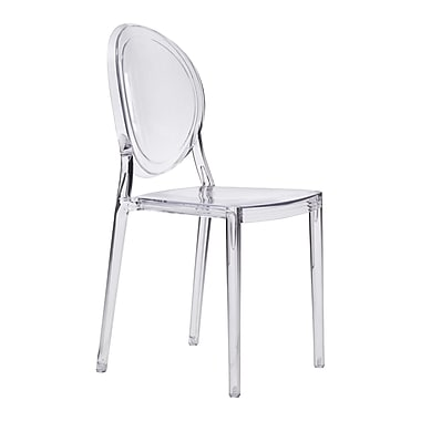 Zuo Modern Specter Dining Chair Clear, 4/Pack (WC100299)