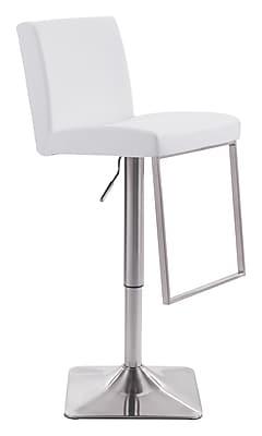 Zuo Modern Puma Bar Chair White (WC100311)