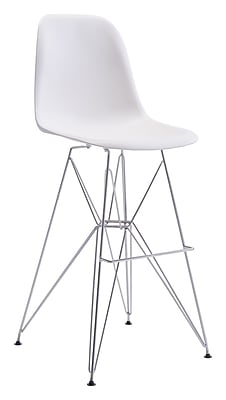 Zuo Modern Zip Bar Chair White (WC100323)