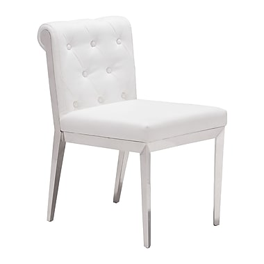 Zuo Modern Aris Dining Chair White, 2/Pack (WC100329)