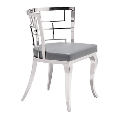 Zuo Modern Quince Dining Chair Gray, 2/Pack (WC100333)
