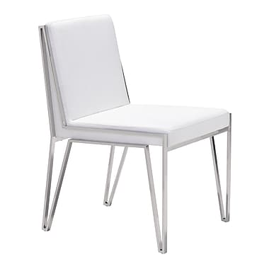 Zuo Modern Kylo Dining Chair White, 2/Pack (WC100334)