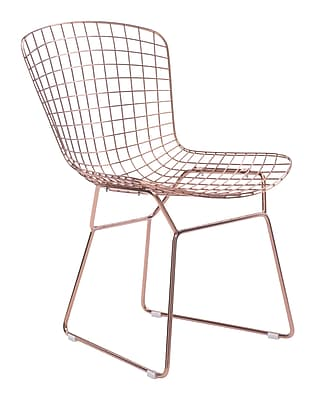 Zuo Modern Wire Dining Chair Rose Gold (Set of 2) (WC100361)
