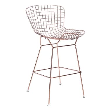 Zuo Modern – Tabouret de bar Wire, or rose, 2/paquet (WC100362)