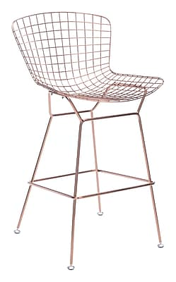 Zuo Modern Wire Bar Chair Rose Gold (Set of 2) (WC100362)