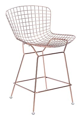 Zuo Modern Wire Counter Chair Rose Gold (Set of 2) (WC100363)