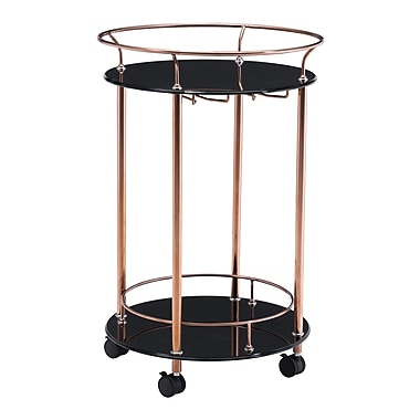 Zuo Modern – Chariot de service Plato, or rose (WC100366)