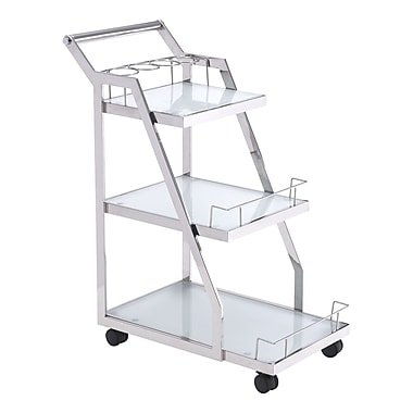 Zuo Modern Acropolis Serving Cart Stainless Steel (WC100367)