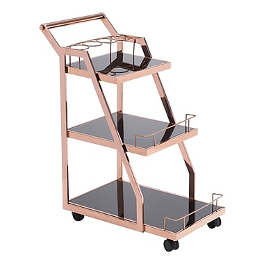 Zuo Modern Acropolis Serving Cart Rose Gold (WC100368)