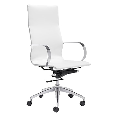 Glider Hi Back Office Chair White (WC100372)