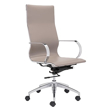 Zuo Modern Glider Hi Back Office Chair Taupe (WC100373)