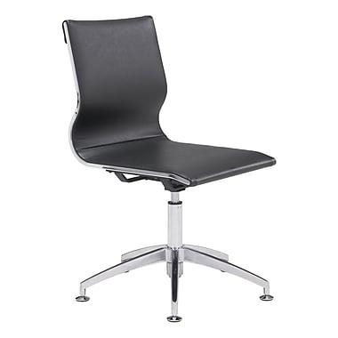 Zuo Modern – Chaise de conférence Glider, noir (WC100377)