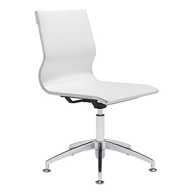 Zuo Modern – Chaise de conférence Glider, blanc (WC100378)
