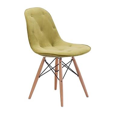 Zuo Modern – Chaise de salle à manger Probability, vert (WC104156)