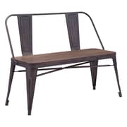 Zuo Modern  Elio Double Bench Rustic Wood (WC108149)