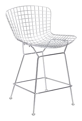 Zuo Modern Wire Counter Chair Chrome (Set of 2) (WC188018)
