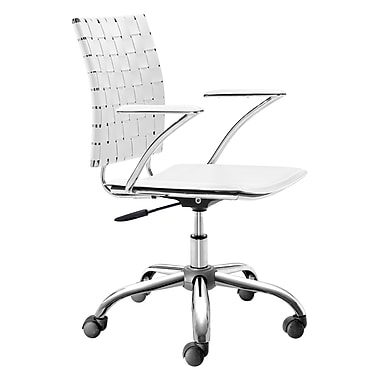 Zuo Modern Criss Cross Office Chair White (WC205031)