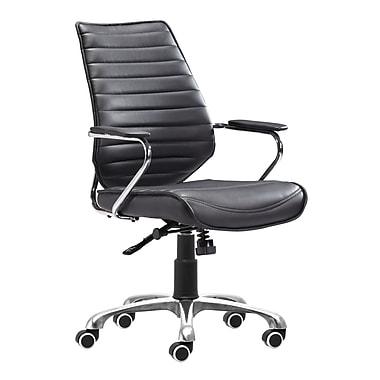 Zuo Modern Enterprise Low Back Office Chair Black (WC205164)