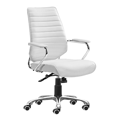 Zuo Modern Enterprise Low Back Office Chair White (WC205165)