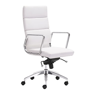 Zuo Modern Engineer High Back Office Chair White (WC205893)