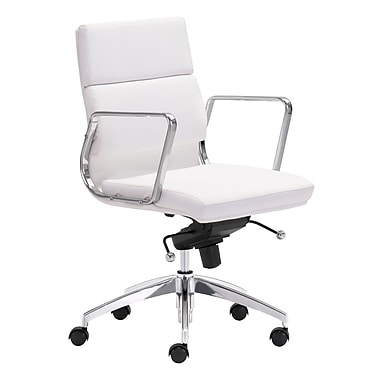 Zuo Modern Engineer Low Back Office Chair White (WC205896)