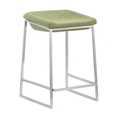 Zuo Modern Lids Counter Stool Green, 2/Pack (WC300036)