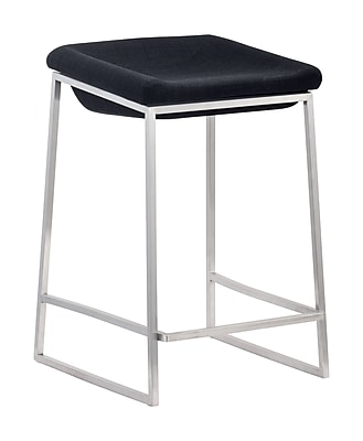 Zuo Modern Lids Counter Stool Dark Gray (Set of 2) (WC300037)