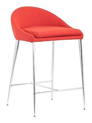 Zuo Modern Reykjavik Counter Chair Tangerine (Set of 2) (WC300333)