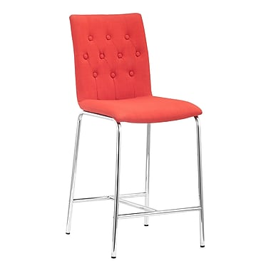 Zuo Modern Uppsala Counter Chair Tangerine, 2/Pack (WC300337)