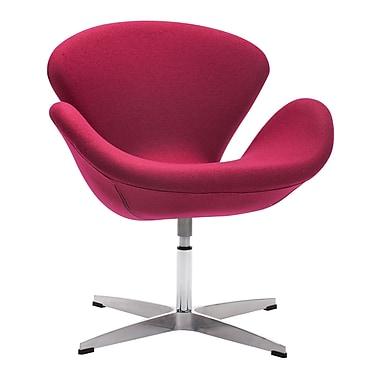 Zuo Modern – Fauteuil Pori, rouge cornaline (WC500309)