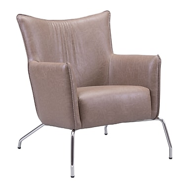 Zuo Modern Ostend Occasional Chair Saddle Brown (WC500509)