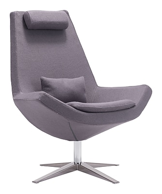 Zuo Modern Bruges Occasional Chair Charcoal Gray (WC500510)