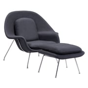 Zuo Modern Nursery Chair And Ottoman Gray (WC501153)