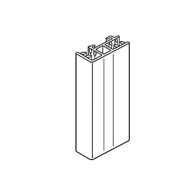 FFR Merchandising SuperGrip® Header Sign Holder, End, w/ Side SH, 4 inch L, 16/Pack, (1510635741)