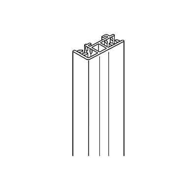 FFR Merchandising ? Porte-surmontoir SuperGrip avec extrémités et côtés SH, longueur de 8 po, 8/pqt (1510635742)