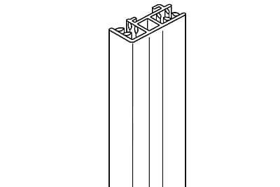 FFR Merchandising SuperGrip® Header Sign Holder, End, w/ Side SH, 12 inch L, 8/Pack, (1510635743)