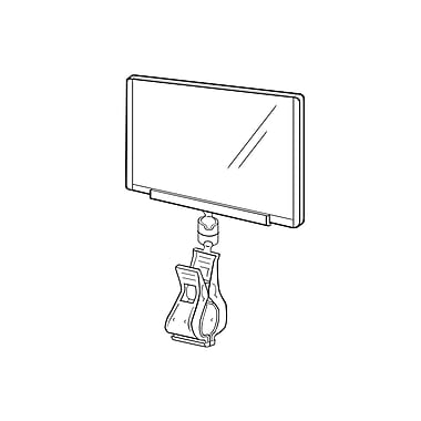 FFR Merchandising ? Protecteur d?affiche à pince, 7, 3,5 x 5,5, ressort en plastique transp., joint transp., 5/pqt (2804823508)