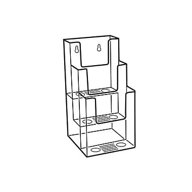 FFR Merchandising Excelsior Narrow Triple-Tiered Literature Holder, 4.5
